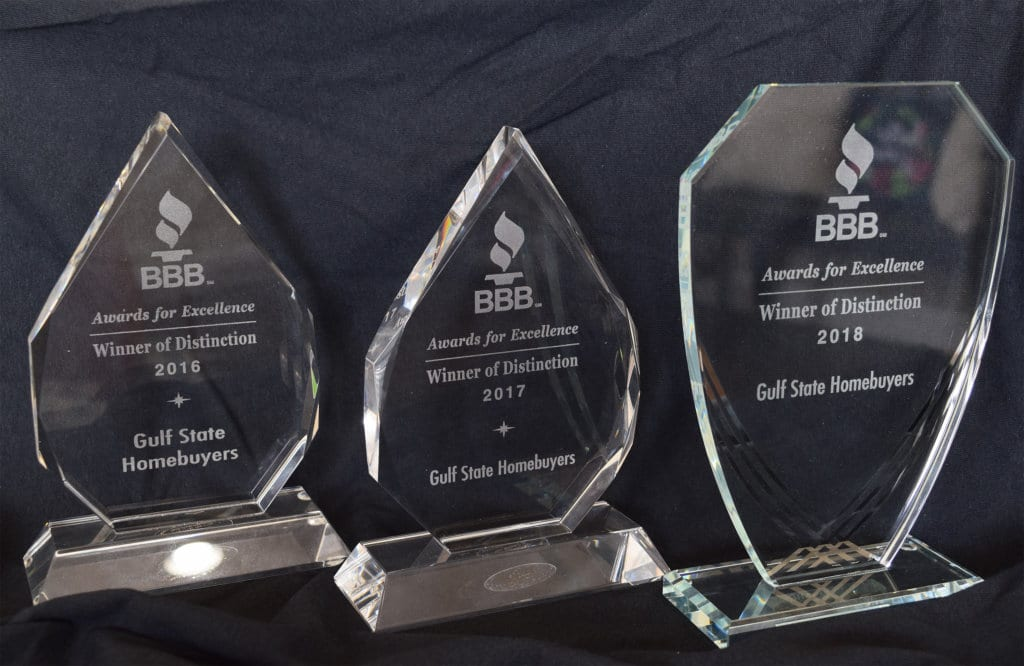 BBB Distinction Award Gulf State Homebuyers