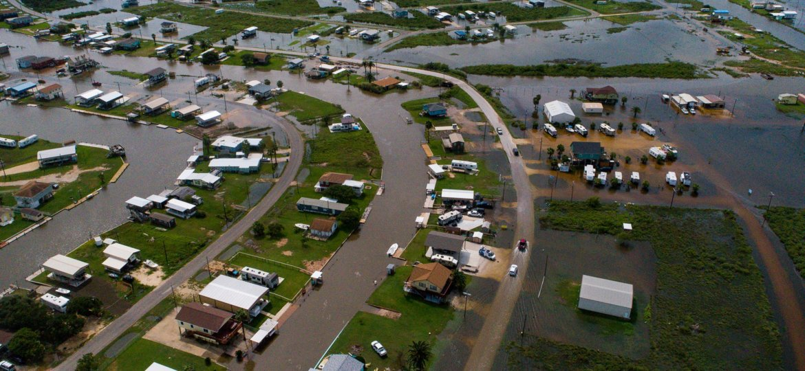 Homes Seeking Recovery Following Tropical Storm Imelda